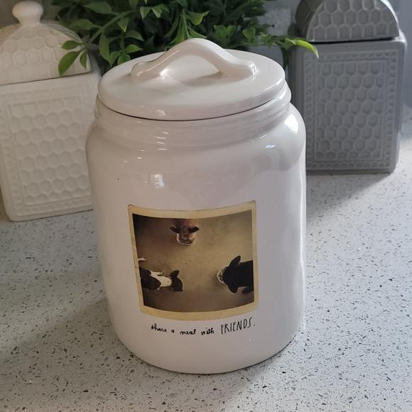 Rae Dunn dog treat canister